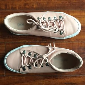 ASOS pink and white casual sneakers